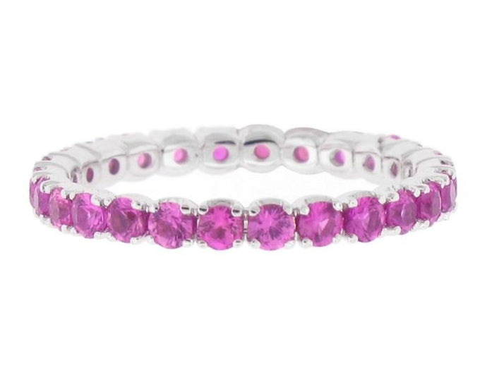 1.35ctw Pink Sapphire Eternity Band - Boston