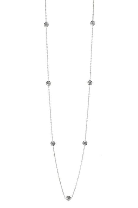 1.40ctw Diamond By The Yard Necklace (White Gold) - JEWELRY Boston