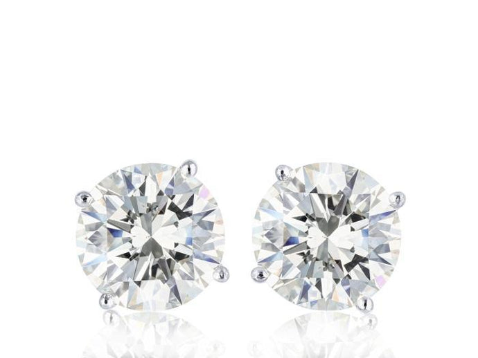 1.42ct Round Brilliant Cut Diamond Stud Earrings - Boston