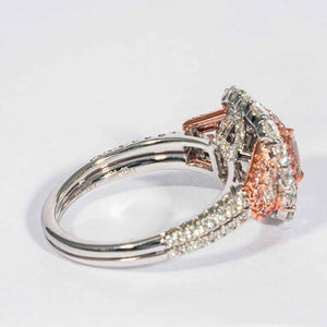 1.43CT Cushion Fancy Pink B/VVS1 Cluster Ring - Boston