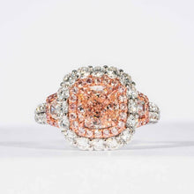 Load image into Gallery viewer, 1.43CT Cushion Fancy Pink B/VVS1 Cluster Ring - Boston
