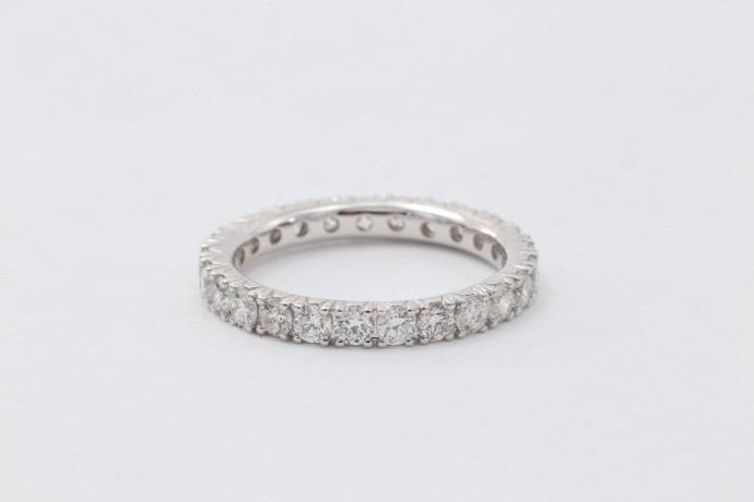 1.46ct French Pave Eternity Band (18k White Gold) - ENGAGEMENT Boston