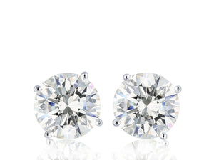 1.50ctw Diamond Stud Earrings (White Gold G/SI1) - JEWELRY Boston