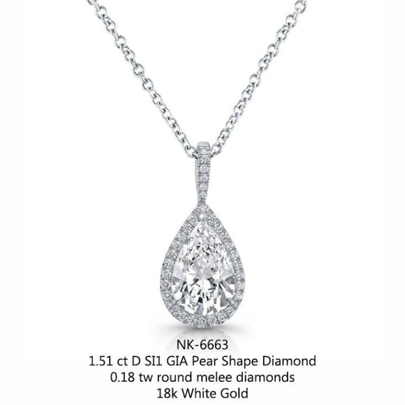 151 carat diamond pendant necklace 18k white gold 151 carat diamond pendant necklace 18k white gold jewelry boston aloadofball Image collections