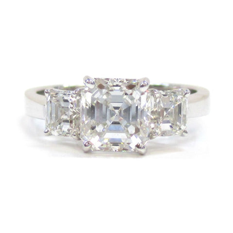 1.51 Vs2 Asscher Cut Diamond Engagement Ring - Jewelry Boston