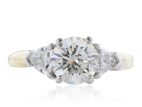 1.60 Carat Gia Certified Diamond Engagement Ring - Jewelry Boston