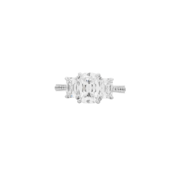 1.61 Carat Cushion Ring Diamond Engagement Ring - Boston