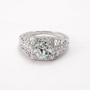 1.65ctw Old European Cut Diamond Ring (Platinum) - JEWELRY Boston