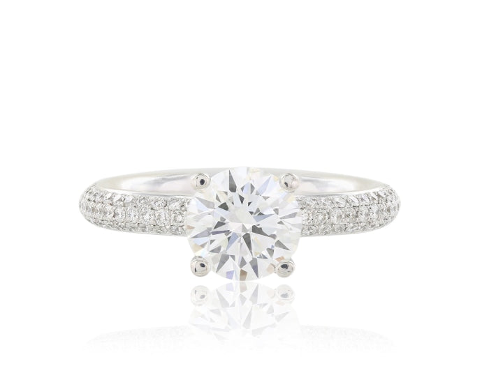 1.79ctw Round Diamond Ring (Platinum) - ENGAGEMENT Boston