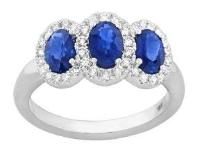 Oval Blue Sapphire And Diamond Ring - Jewelry Boston