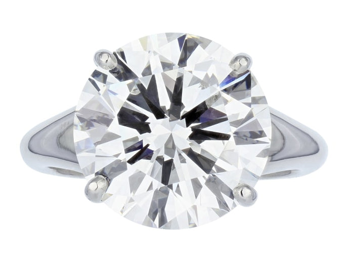 1.90 Carat Gia E/si1 Diamond Engagement Ring (Platinum) - Jewelry Boston