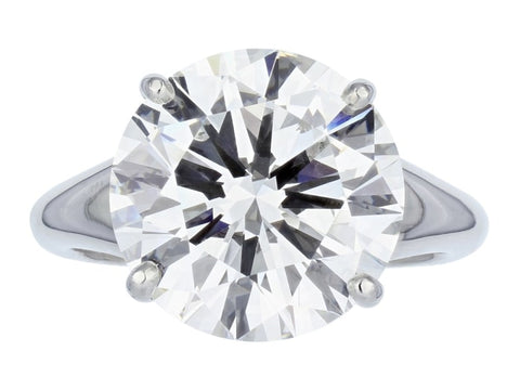 1.90 Carat Round Brilliant Cut Solitaire Diamond Engagement Ring (Platinum) - Jewelry Boston