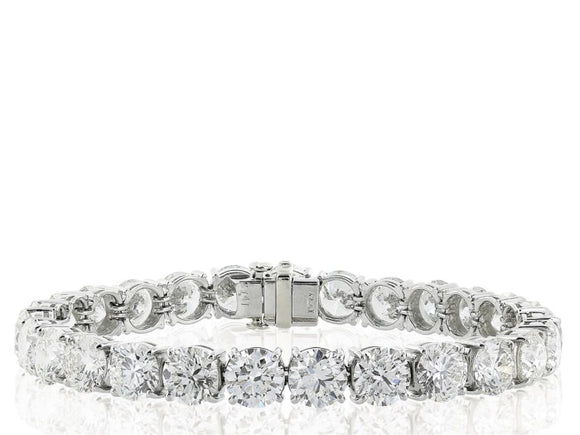 10.00 Carat Diamond Tennis Bracelet (18 Kt Gold) - Jewelry Boston