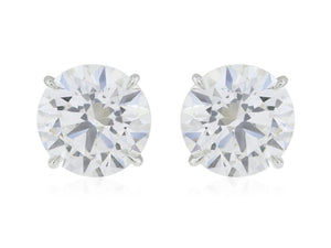 10.04 Carat Gia Certified H/si2 3X Diamond Stud Earrings - Jewelry Boston