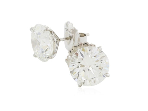 10.04 Carat Round Brilliant Cut Diamond Stud Earrings H/si2 (Platinum) - Jewelry Boston