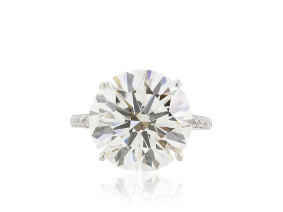 10.06 Carat Gia K Si1 3X Diamond Engagement Ring - Jewelry Boston