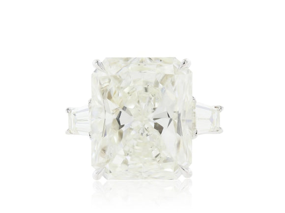 10.06 Carat Radiant Cut Diamond Ring (Platinum) - Jewelry Boston