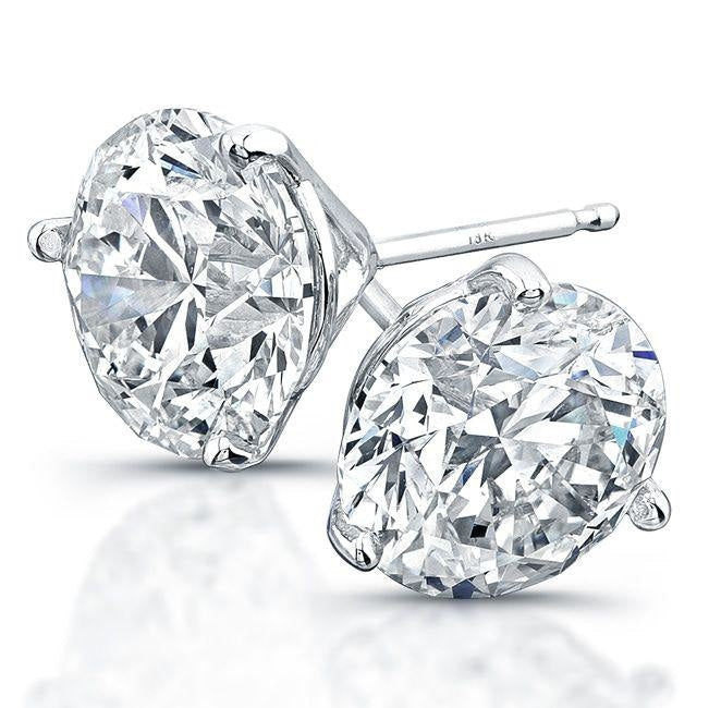 10.10ctw Round Brilliant Cut Diamond Stud Earrings (GIA Certified Platinum) - JEWELRY Boston
