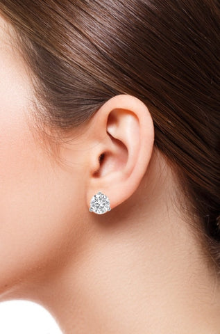 10.12 Carat Diamond Stud Earrings - Jewelry Boston