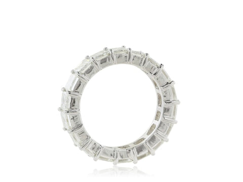 10.75 Carat Emerald Cut Eternity Band (Platinum) - Jewelry Boston