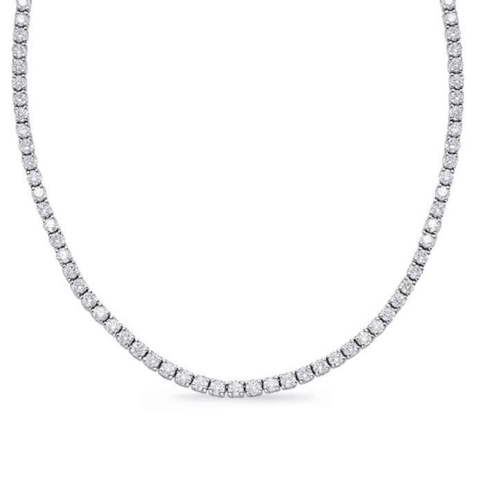 10.83ct Diamond Tennis Necklace - Boston