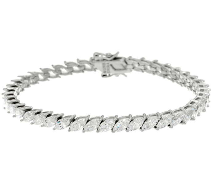 10 Carat Flexible Marquise Diamond Bracelet (Platinum) - Jewelry Boston