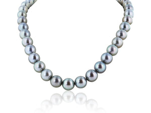 11-13Mm Natural Tahitian Pearl Necklace - Jewelry Boston