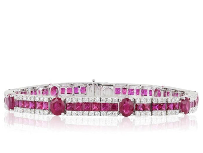 11.32ct Ruby and Diamond Bracelet - Boston