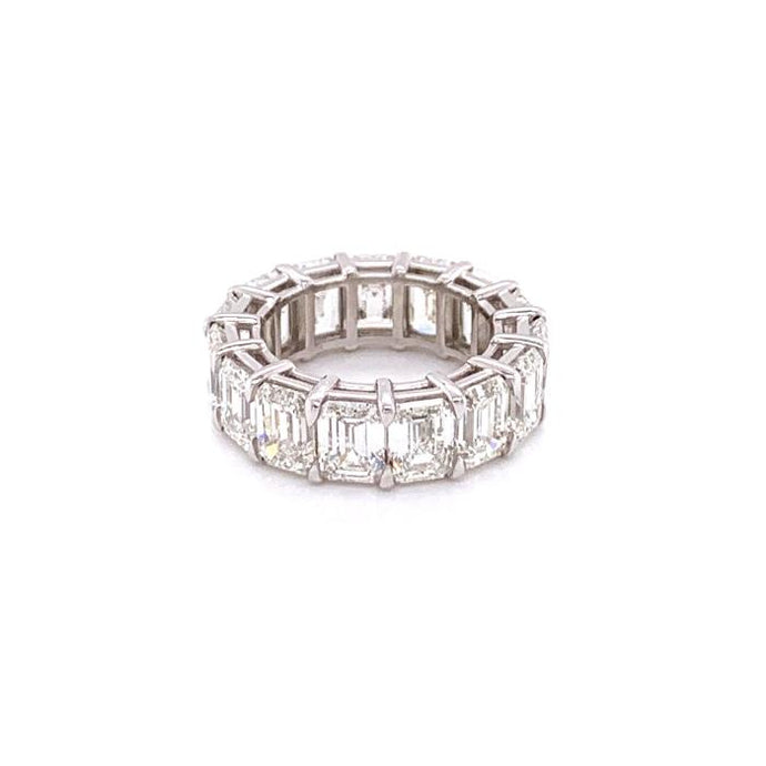 11.41ctw Emerald Cut Diamond Eternity Band (Platinum) - JEWELRY Boston