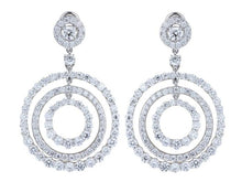 Load image into Gallery viewer, 11.11 Carat Round Brilliant Cut Diamond Circular Drop Earrings - Jewelry Boston