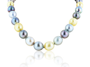 12-17 Mm Graduated South Sea Pearl Necklace - Jewelry Boston