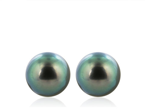 13 Mm Tahitian Pearl Stud Earrings - Jewelry Boston