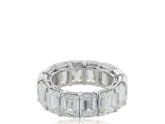 14.35 Carat Emerald Cut Diamond Band - Jewelry Boston