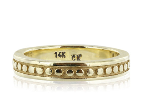 14 Karat Yellow Gold Band - Jewelry Boston