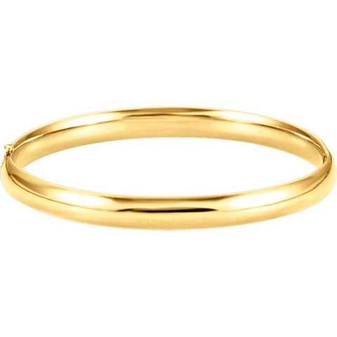 14 Karat Yellow Gold Bangle - Jewelry Boston