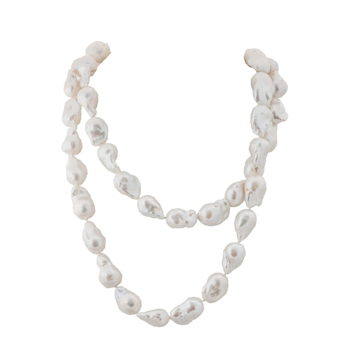 14 X 16Mm Baroque Freshwater Pearl Necklace - Boston