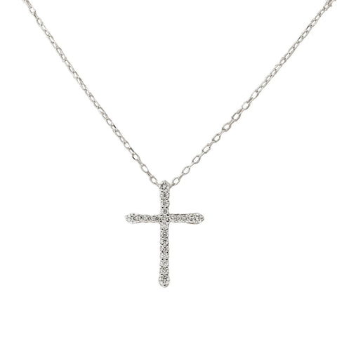 14kt Diamond Cross Pendant - JEWELRY Boston