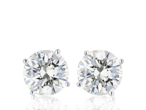 14Kt White Gold 2.03 Carat Diamond Stud Earrings - Jewelry Boston