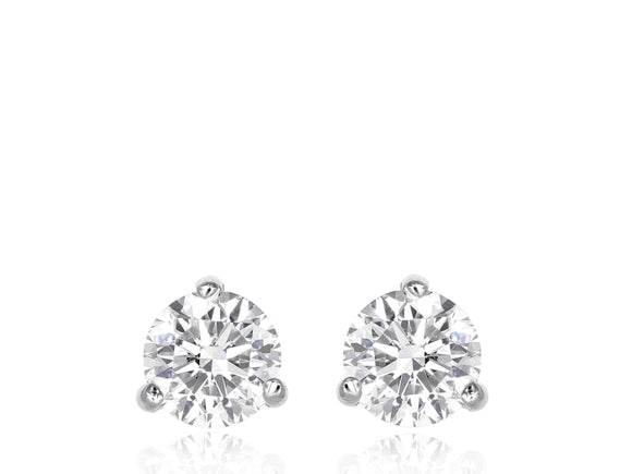 14Kt White Gold 3.60 Carat Diamond Stud Earrings - Jewelry Boston