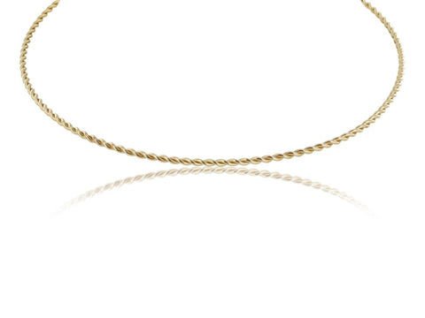 14Kt Yellow Gold Collar Necklace - Jewelry Boston