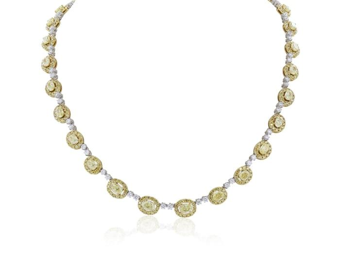 10.22 Carat Fancy Yellow Diamond Necklace - Jewelry Boston