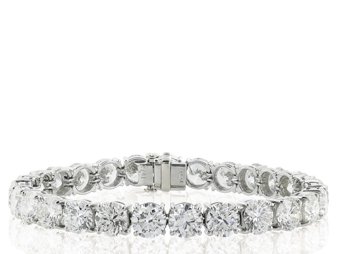 16.35ctw Diamond Tennis Bracelet (White Gold) - JEWELRY Boston