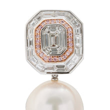 Load image into Gallery viewer, 16Mm South Sea Pearl And Pink Diamond Earrings - Jewelry Boston