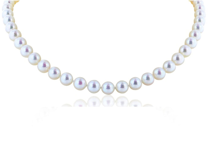 18 Inch White Pearl Necklace - Jewelry Boston