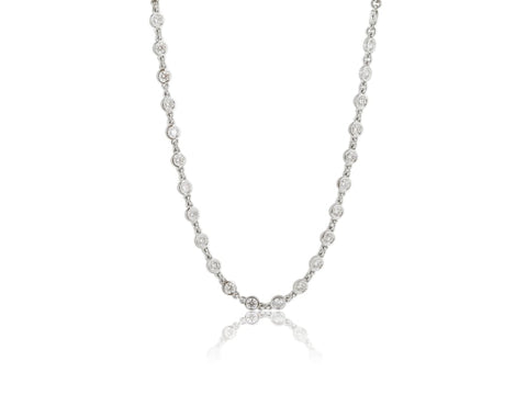 18 Karat 3.29 Carat Diamond By-The-Yard Necklace - Jewelry Boston
