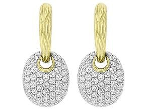 18 Karat Gold Diamond Drop Earrings - Jewelry Boston