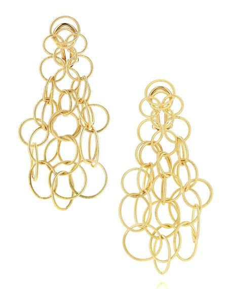 18 Karat Yellow Gold Hawaii Link Earrings Buccellati - Jewelry Boston