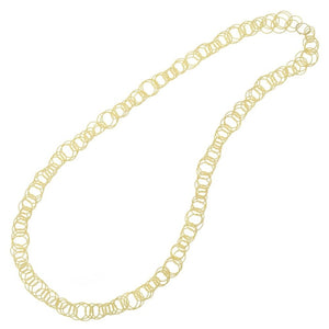 18 Karat Yellow Gold Hawaii Link Necklace Buccellati - Jewelry Boston
