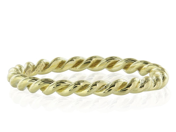 18K Yellow Gold Twist Ring - Jewelry Boston