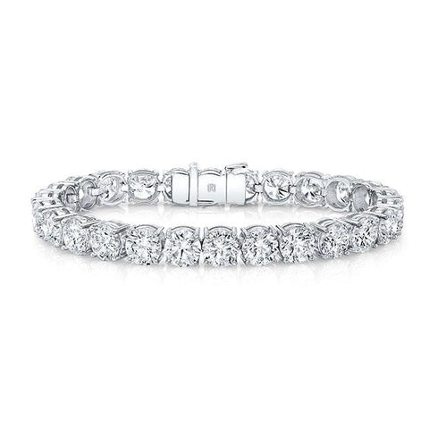 19.80 Carat Diamond Tennis Bracelet (18K White Gold) - Jewelry Boston